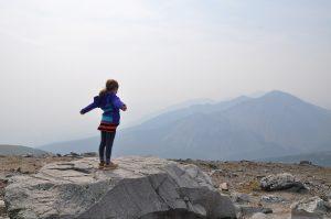 At the top of Whistler's mountain, Jasper Skytram