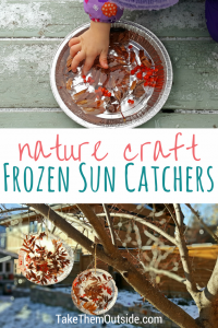 Winter nature crafts: ice ornaments or sun catchers | #wintercraft #naturecraft #kidscraft #winter #getoutside