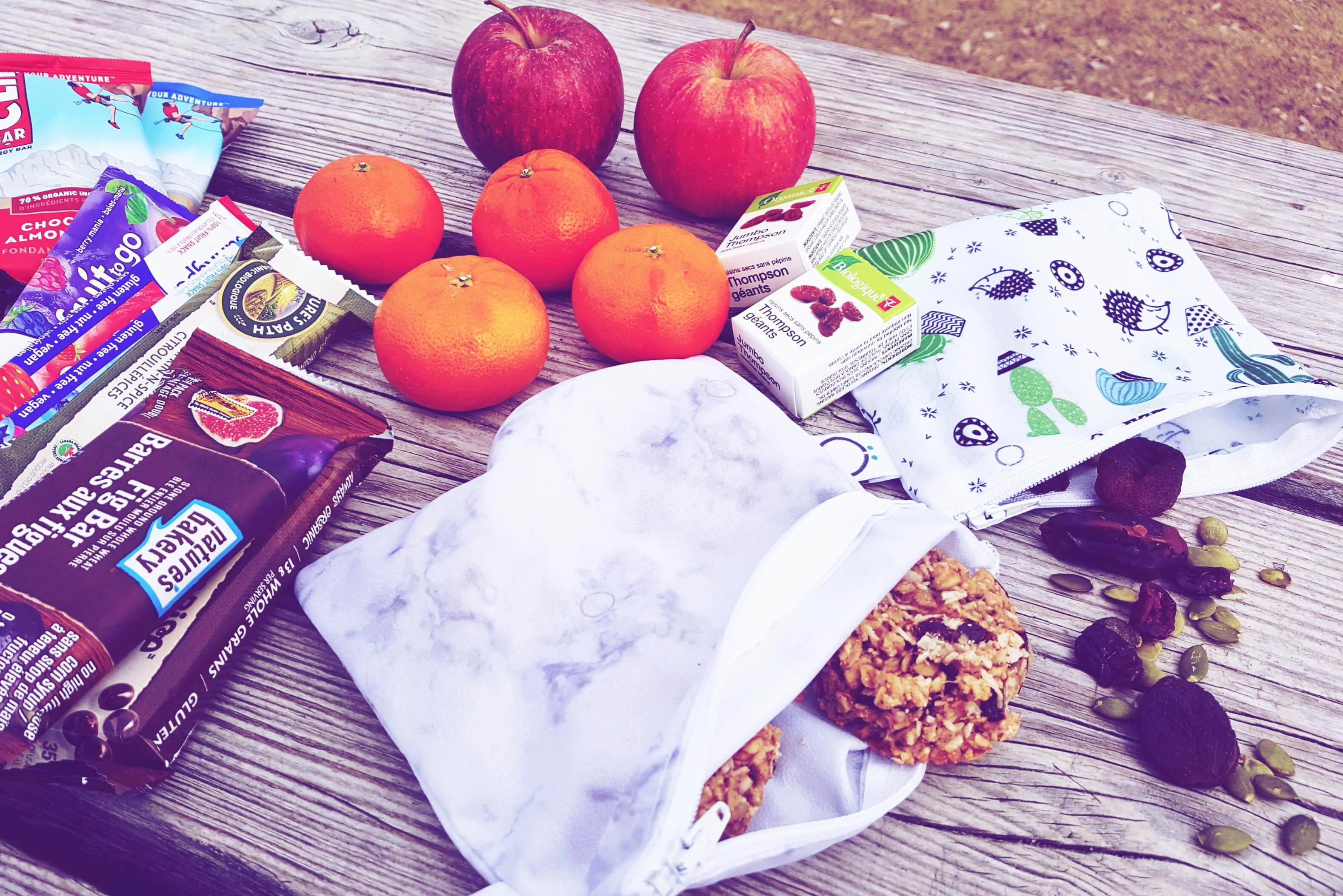 Easy and healthy hiking snacks kids will love! ⋆ Take Them