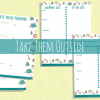 Images of meal planning printalbes, grocery list,campsite review printables