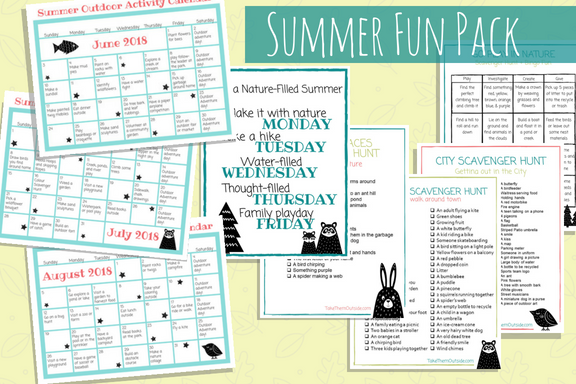 Image of summer planners and scavenger hunt printables