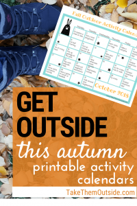 image of printable activity calendar for fall