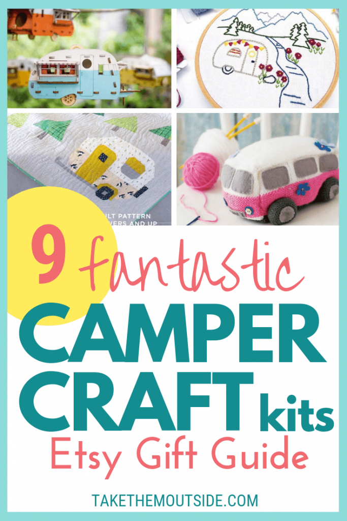 various camper crafts for gifting or making