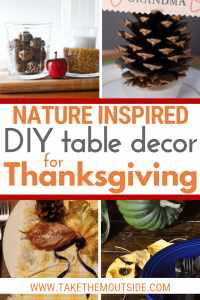 various simple fall table decorations using leaves and pinecones
