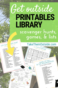 images of various printable outdoor activities for kids and families