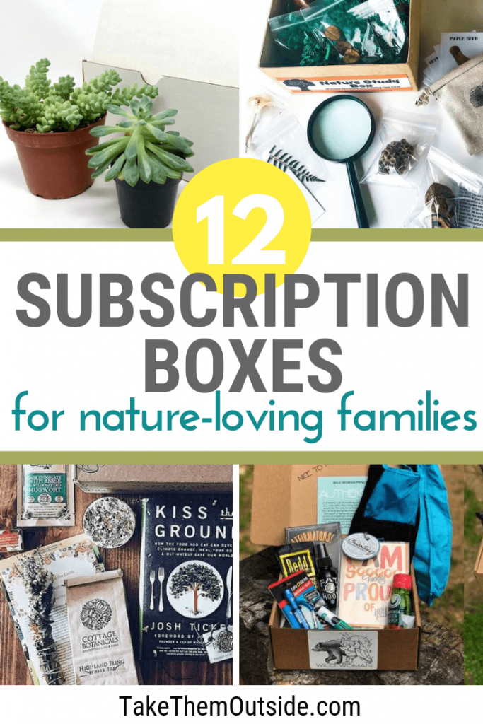 various outdoor subscription box ideas for nature loving families