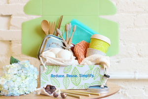 reusable bathroom and household products contained in the greenUp Subscription box