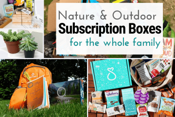 images from various nature and outdoor subscription boxes for families