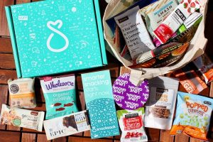 all the treats and snacks available in a snack sack subscription box