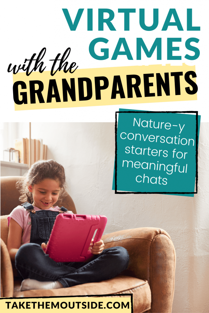 a girl using a tablet to meet with grandparents virtually