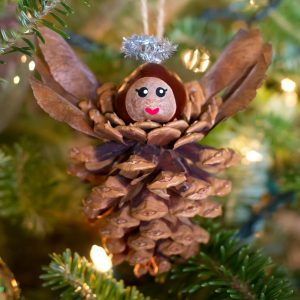 pine cone angel ornaments