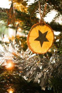 Dried orange slice ornaments