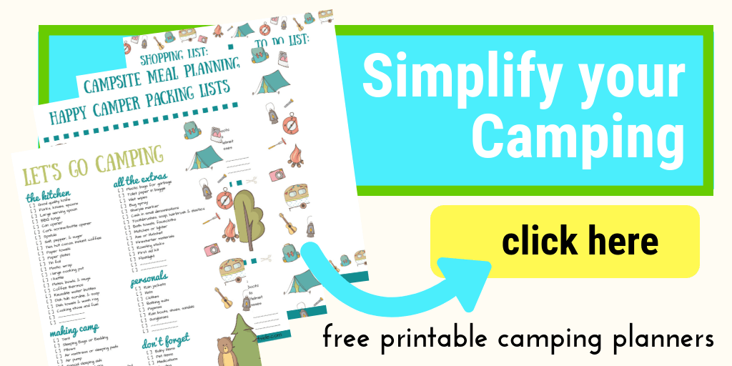 images of printable family camping checklists and planner pages