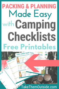images of printable camping checklists and planners