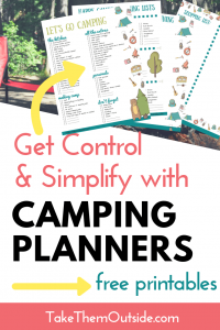 image of printable camping checklist and planners