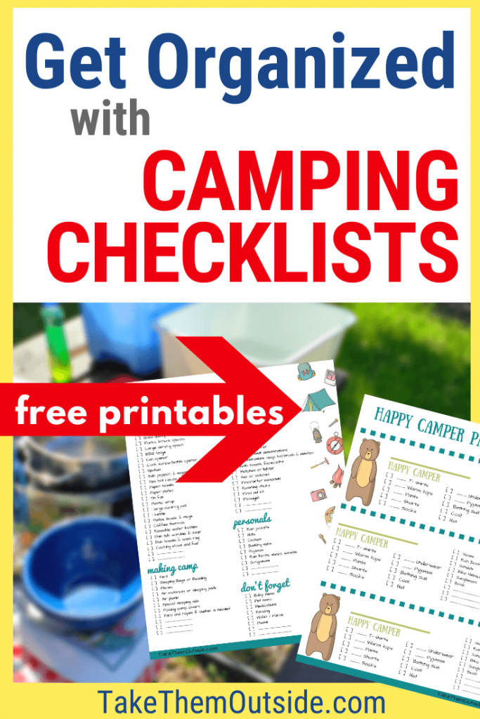 image of printable camping packing lists