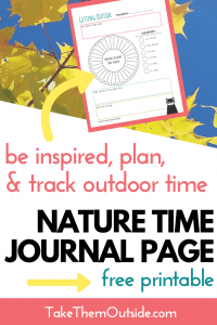 image of printable nature time journal page