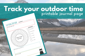 image of printable outdoor activity journal page