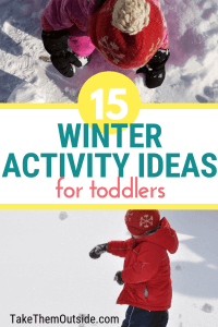 toddlers playing outdoors in the winter