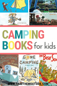 pictures of various covers from fun kids camping books