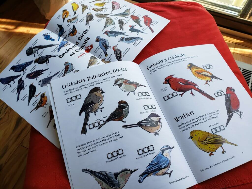 The Backyard Bird poster and bird journal from the Great Canadian Adventure Subscription