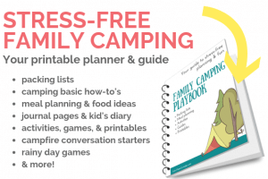 image of family camping playbook and description