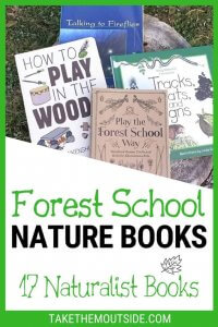 various nature books for kids that are perfect for forest school learning