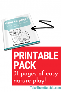cover image for play outside guide nature printables pack