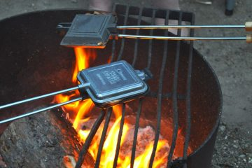 campfire pie iron cooking tools