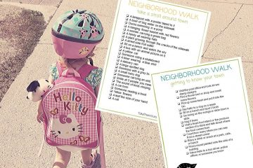 neighborhood scavenger hunt printables for kids