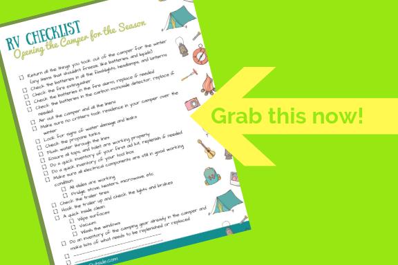 image of the printable RV camper checklist