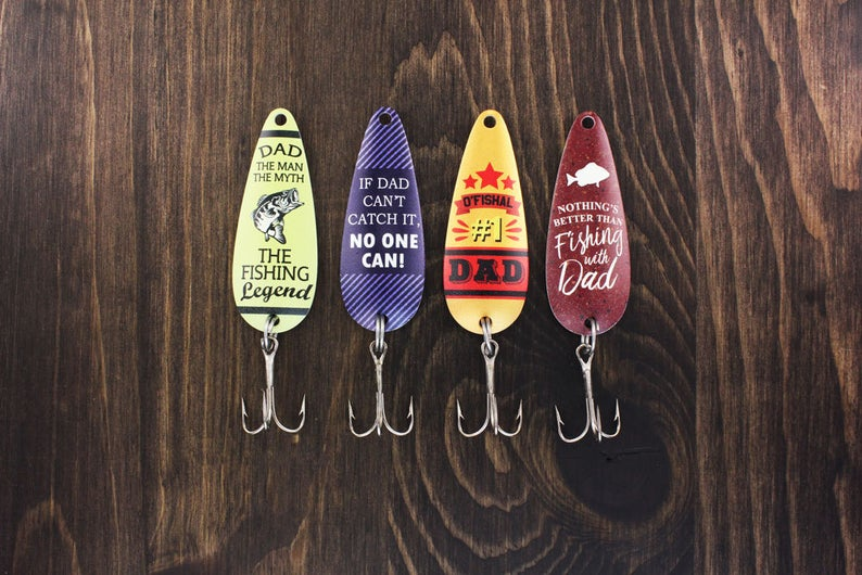 fishing lures personalized for dad