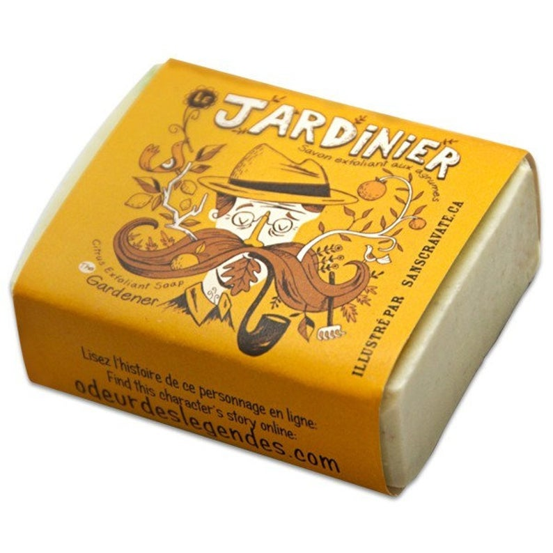 image of bar of gardening soap for men