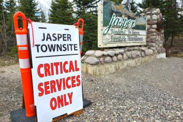 jasper townsite is closed