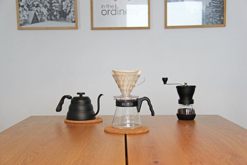 reusable coffee filter sitting in a coffee drip