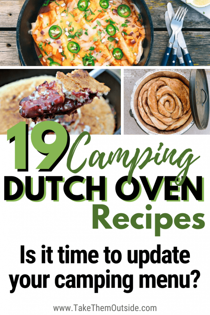 images of dutch oven camping recipes made at the campground
