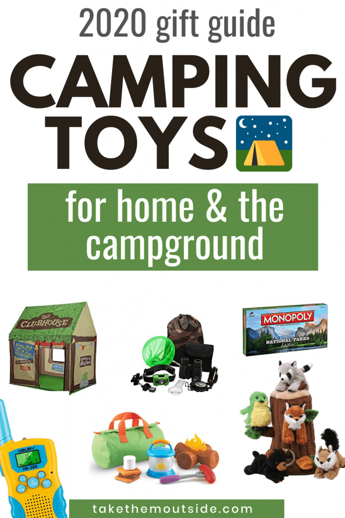 various camping toys and games