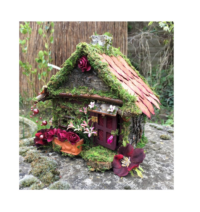 handmade fairy house from natural finds