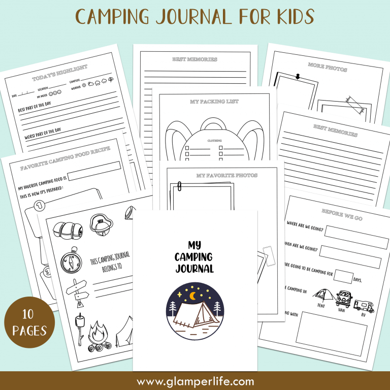 printable camping journal for kids