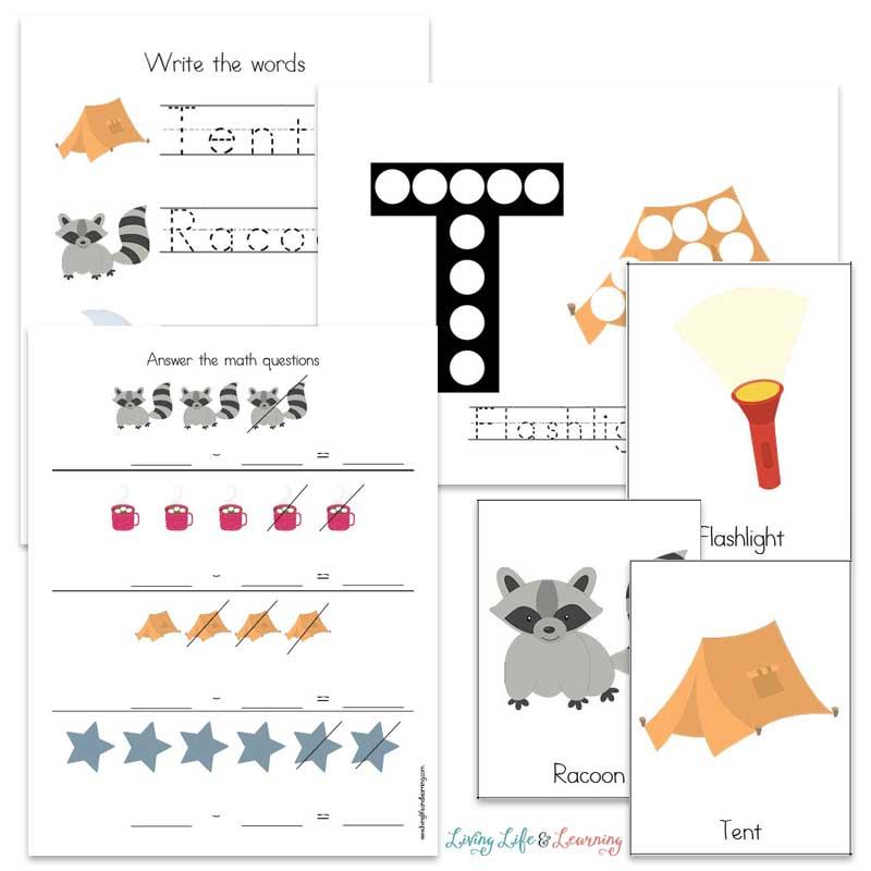 camping printable worksheets for preschoolers