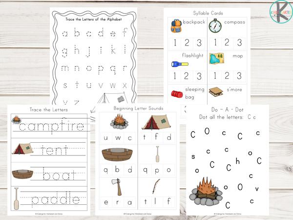 printable camping worksheets for preschoolers