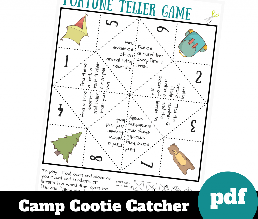 image of printable camping paper game