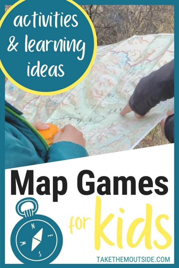 someone pointing at a map to a young kid