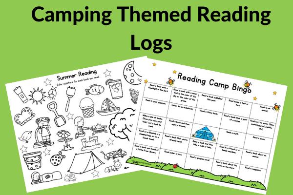 printable camping reading log