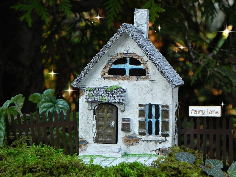 small handmade fairy cottage