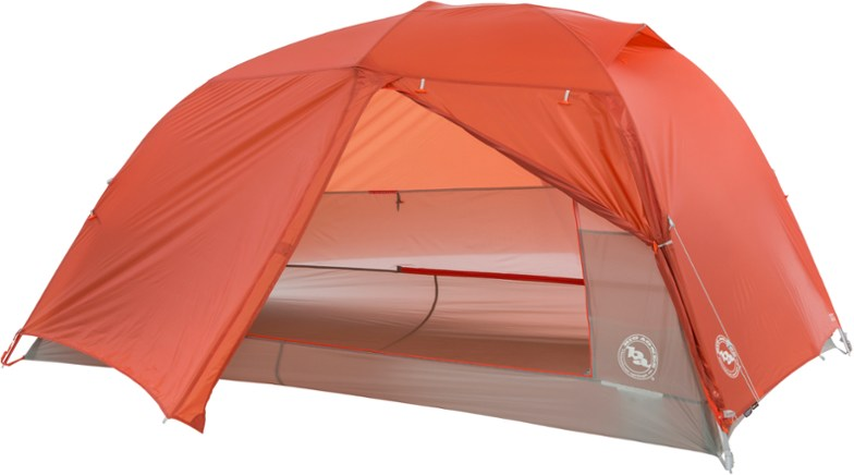 orange 2 person backpacking tent