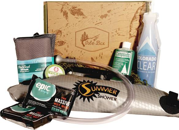 various outdoors gear found in the isle subscription box