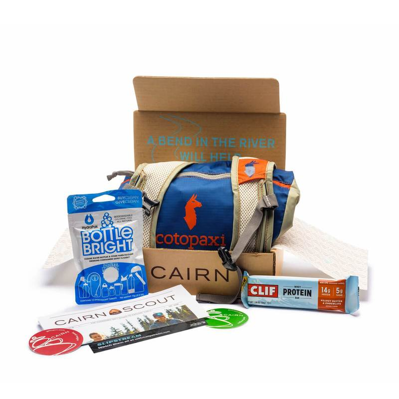 cairn subscription box contents like hiking and camping gear